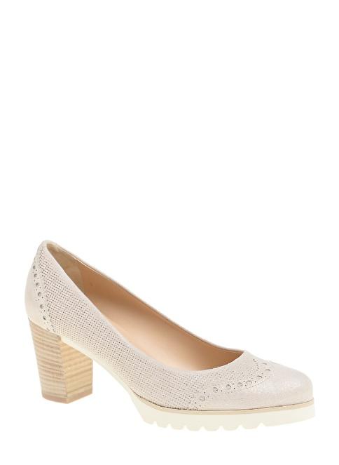 Divarese Kısa Kalın Topuklu Ayakkabı Bej